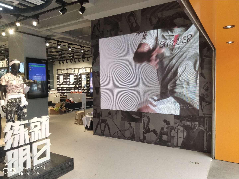 连锁店室内透明led屏案例