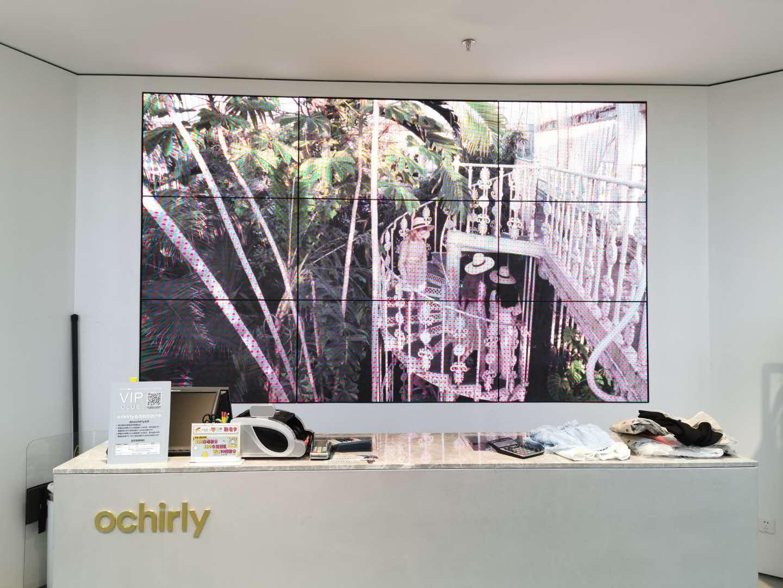 北京朝阳区朝北大悦城商场led电子显示屏安装实例